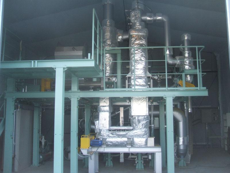 間接加熱型通気気流乾燥装置